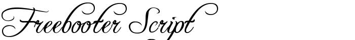 шрифт Freebooter Script