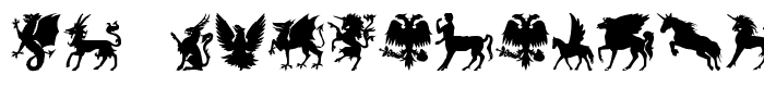 шрифт SL Mythological Silhouettes