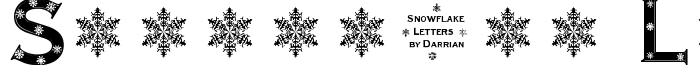 шрифт Snowflake Letters