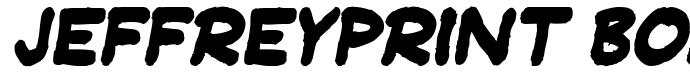шрифт JeffreyPrint Bold Italic