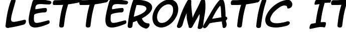 шрифт LetterOMatic Italic