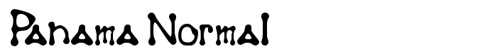 шрифт Panama Normal