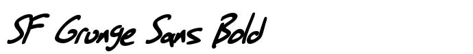 шрифт SF Grunge Sans Bold