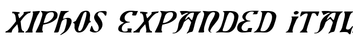 шрифт Xiphos Expanded Italic