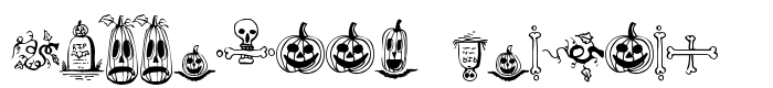 шрифт Halloween Borders