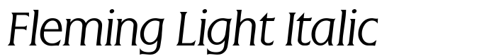 шрифт Fleming Light Italic