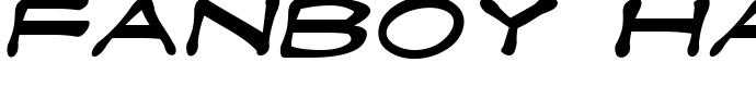 шрифт Fanboy Hardcore Italic