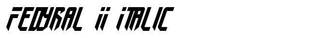 шрифт Fedyral II Italic