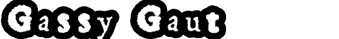 шрифт Gassy Gaut