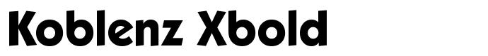 шрифт Koblenz Xbold