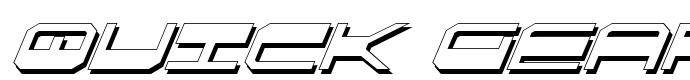 шрифт Quick Gear Italic