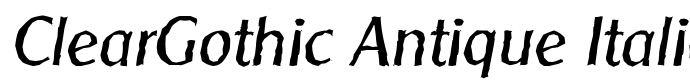 шрифт ClearGothic Antique Italic