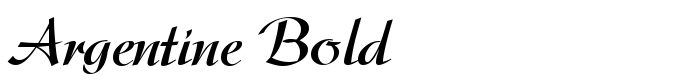 шрифт Argentine Bold