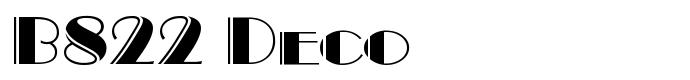 шрифт B822 Deco