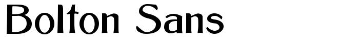 шрифт Bolton Sans