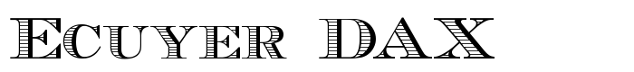 шрифт Ecuyer DAX