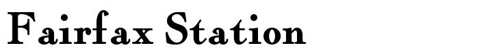 шрифт Fairfax Station