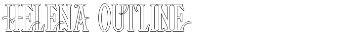 шрифт Helena Outline