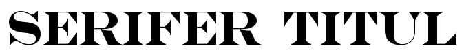 шрифт Serifer Titul Bold