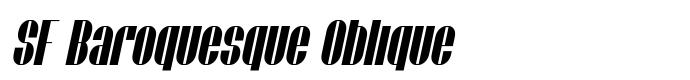 шрифт SF Baroquesque Oblique