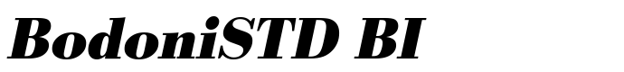 шрифт BodoniSTD BI