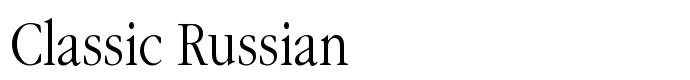 шрифт Classic Russian