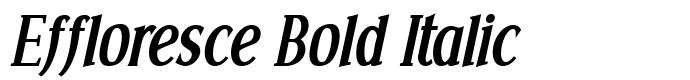 шрифт Effloresce Bold Italic