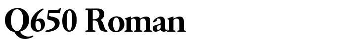 шрифт Q650 Roman