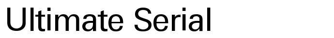 шрифт Ultimate Serial