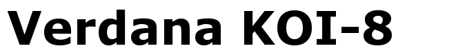 шрифт Verdana KOI-8