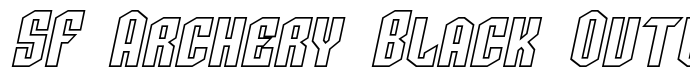 шрифт SF Archery Black Outline Italic