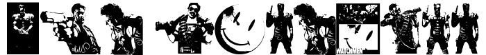 шрифт The Comedian Dingbats