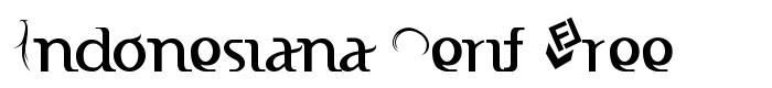 шрифт Indonesiana Serif Free