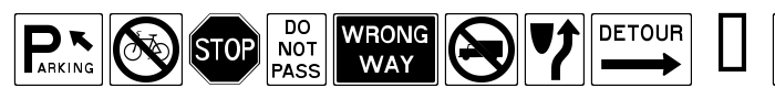 шрифт RoadSign + Warning