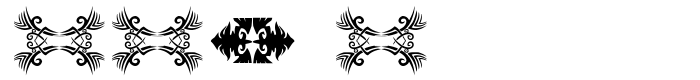 Предпросмотр шрифта ttf tattoef