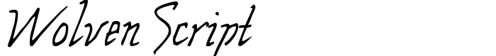 шрифт Wolven Script